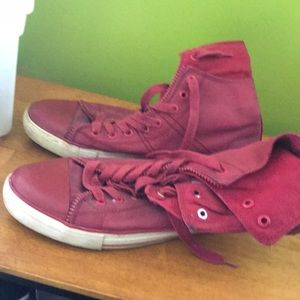 Levi's hightop red shoes